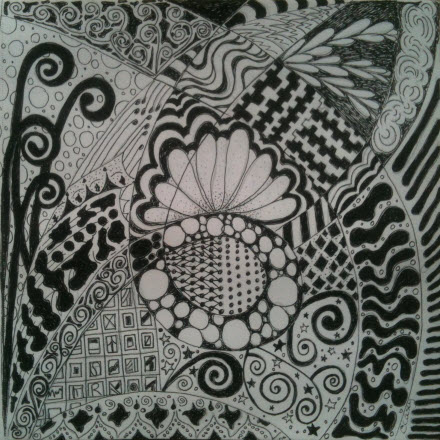 "Some of my ""tangle"" artwork. :)"